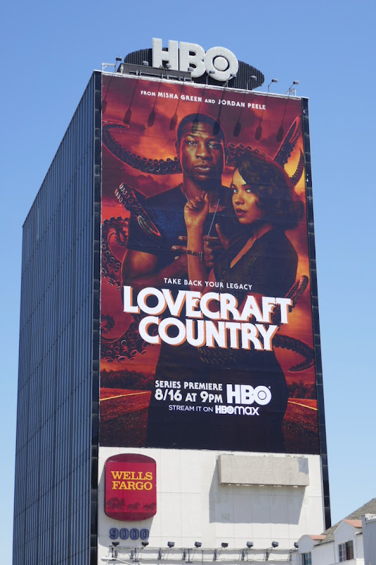 Giant Lovecraft Country series premiere billboard