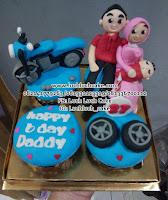 Cupcake Keluarga Tema Sepeda Motor