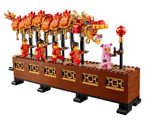 Assembled Dragon Dance LEGO Sets