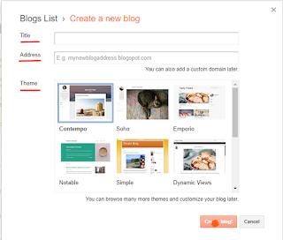 create a blog on Blogger