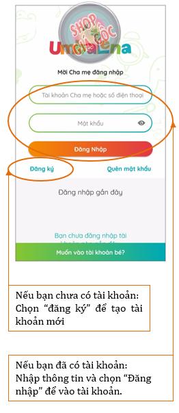 Hướng dẫn tạo tài khoản phụ huynh trên ứng dụng Umbalena
