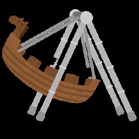 バイキングのイラスト(遊園地)