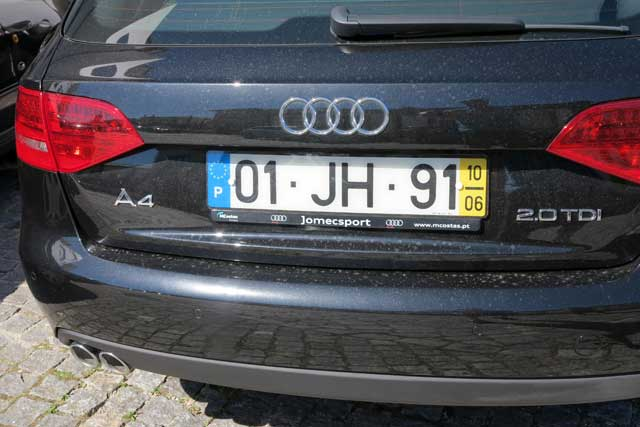Portuguese Vehicle Number Plates