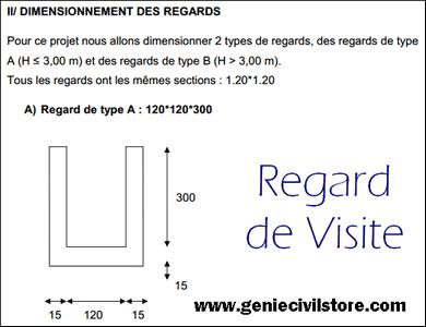 Note de calcul pour regard de visite