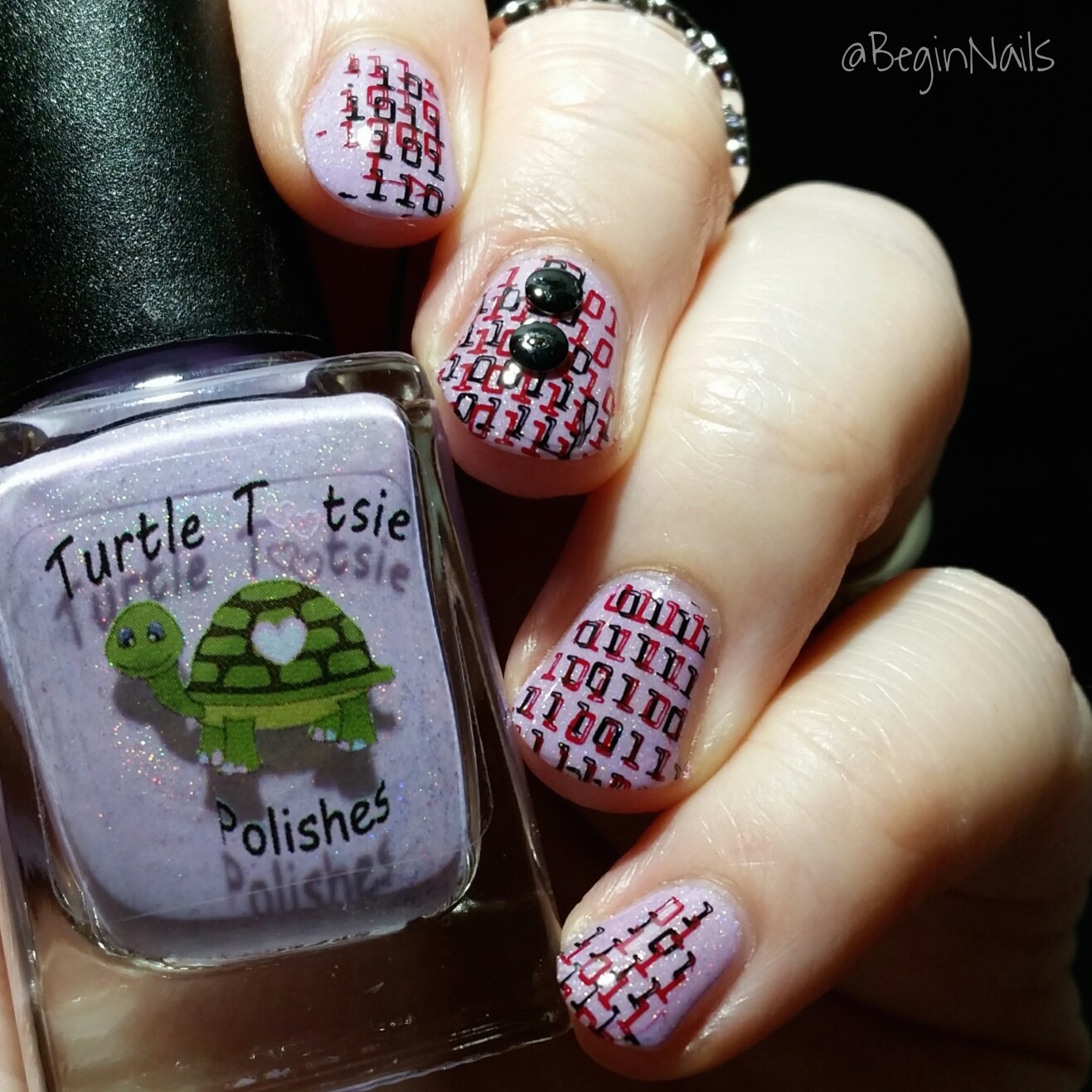 Let\'s Begin Nails: It Girl Nail Art IG110 Plate Manis Part 1