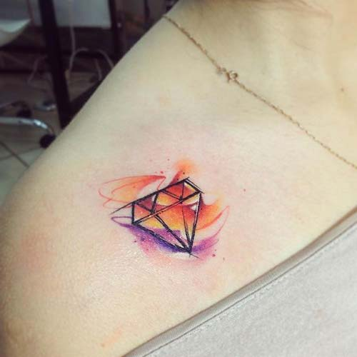 elmas dövmeleri renkli colorful diamond tattoos