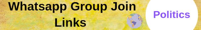 Politics Whatsapp Group Join Links