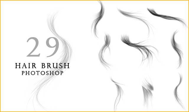 hair brush photoshop