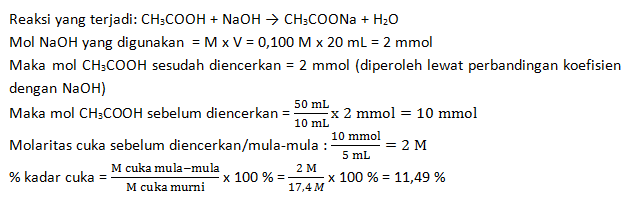 menentukan kadar asam cuka makan
