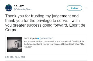 EFCC finally reveals their twitter account Handler