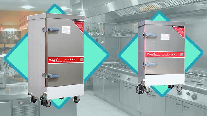 tủ nấu cơm công nghiệp bằng gas điện
