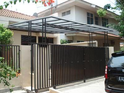 model desain pagar rumah minimalis modern terbaru 2014