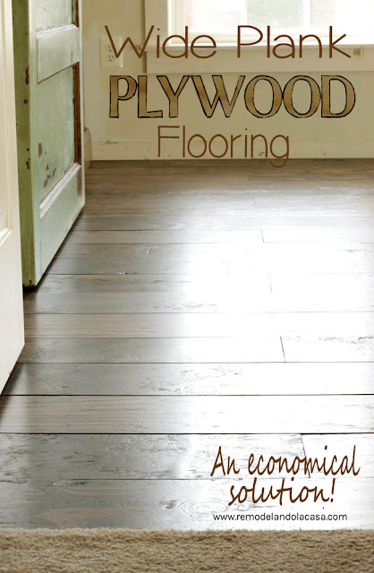 how to make floors out of plywood