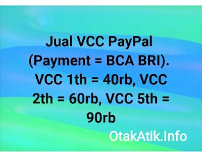 jual vcc paypal