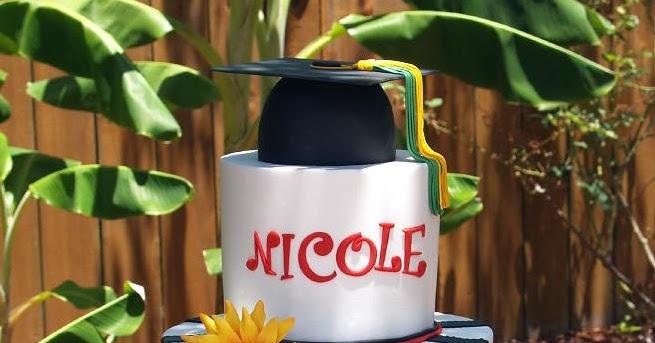 Sugared Lagniappe Sunflower Grad Cake