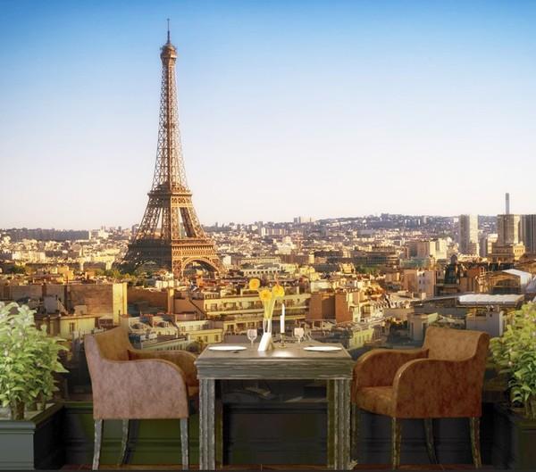 Tapetti Kaupunki tapetti Paris Eiffel-torni Pariisissa valokuvatapetti kaupunki tapetti Fund