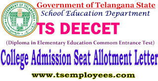 TS DEECET College Admission Provisional Seat Allotment Letter Fee Details