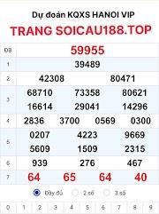 XỐ SỐ HANOI VIP 07 - KẾT QUẢ XỔ SỐ HÀ NỘI VIP LOTO - SOICAU188.TOP