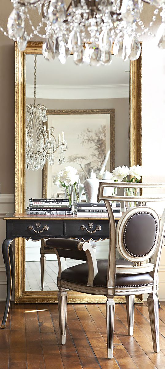 Eye For Design Decorate With Large Ornate Leaning Mirrors