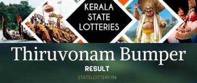 Kerala bumper Thiruvonam lottery result