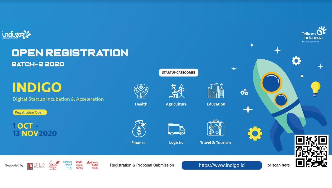 Gelar Akselerasi Indigo Batch 2 - 2020, Telkom Siapkan Pendanaan Hingga Rp 2 Miliar Per Startup