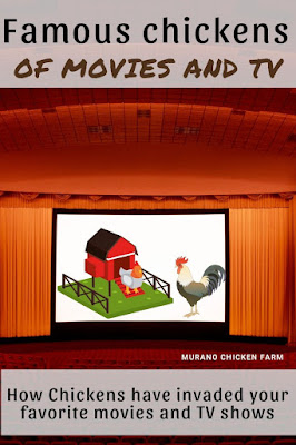 Chickens from movies and television shows, including cartoon chickens.