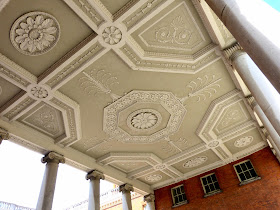 The ceiling of Adam's pillared portico, Osterley Park