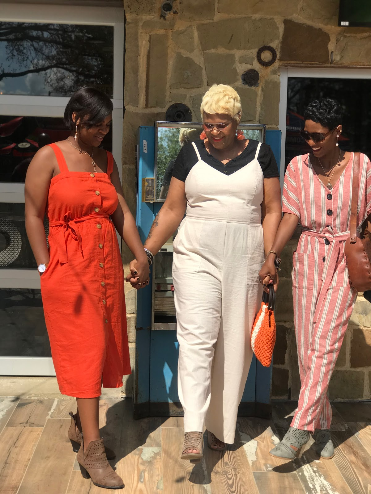 Image: Tangie Bell and Daughters Kamoriae, Carey. On Being Forty Something And Sharing their back in the day outfit stories OOTD