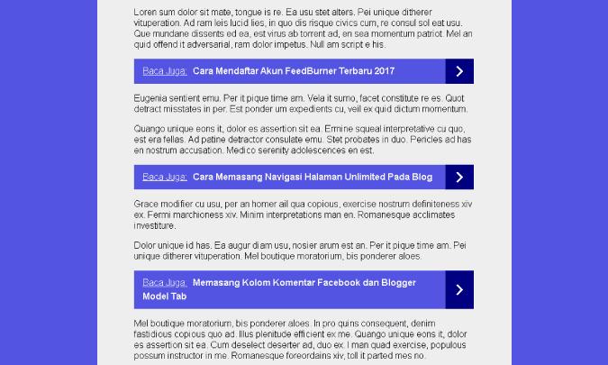 Cara Memasang Multi Related post di Postingan Blogger