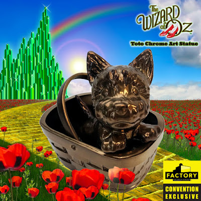 San Diego Comic-Con 2020 Exclusive Wizard of OZ Toto Chrome Art Statue by Factory Entertainment