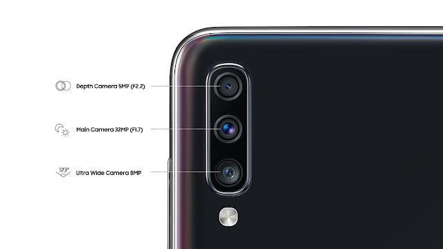 Spesifikasi kamera utama Samsung Galaxy A70