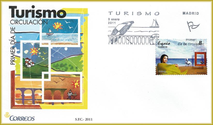 Sobre con sello de Turismo Español de JCarrero