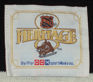 NHL Heritage Collection jersey - inside the neck label - 2