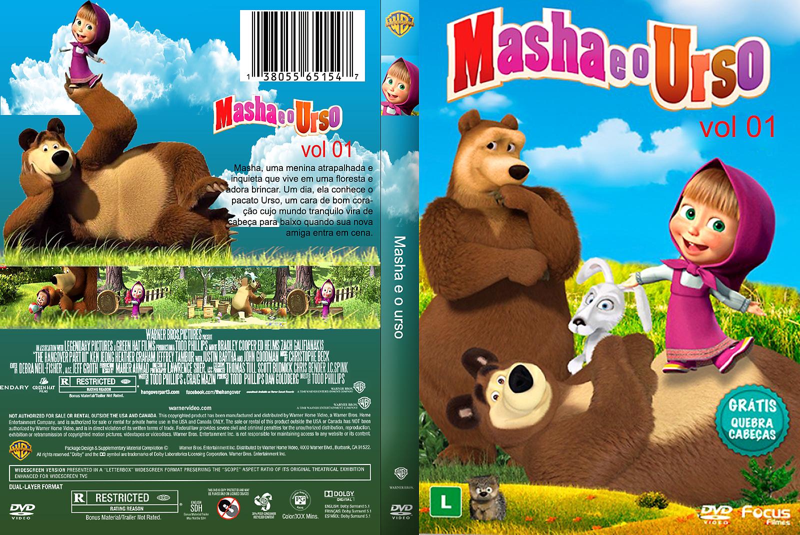 Masha e o Urso – Vol. 1 (2009) DVD-R Oficial