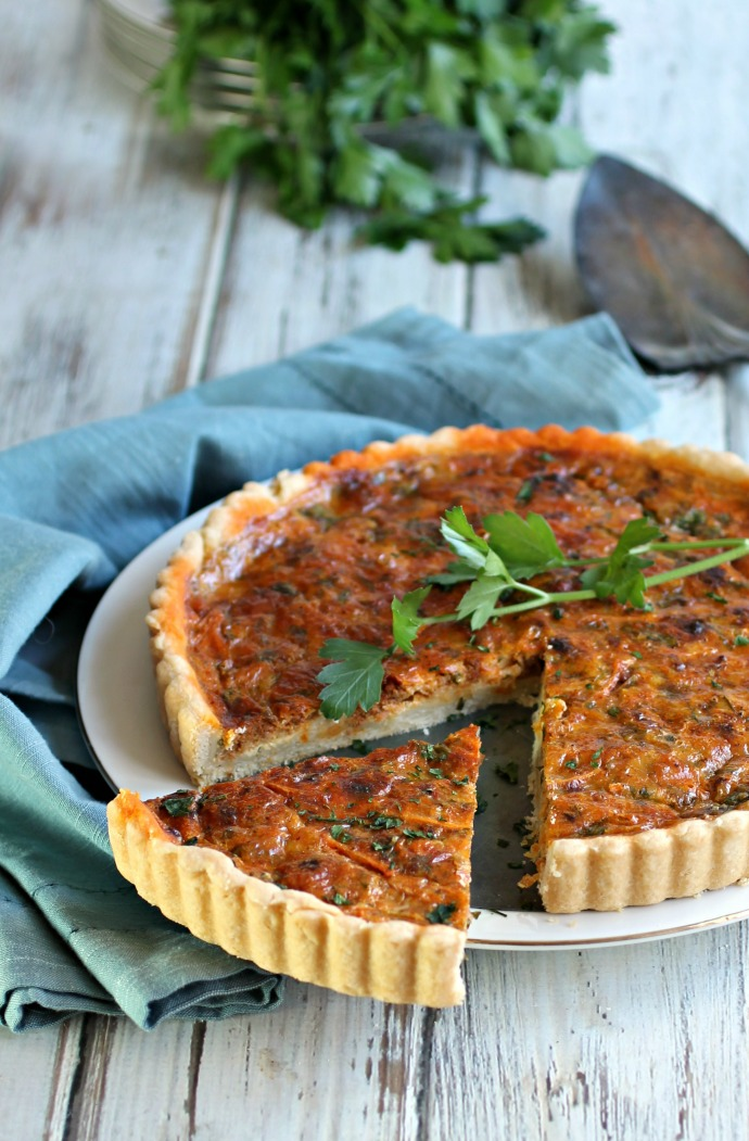 Cheese and Chorizo Tart