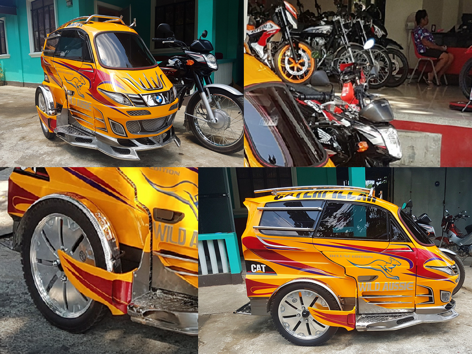 "The Filipino artistry has once again proven with the rise of modified tricycles that look like cars.  Tricycles are the most popular mode of transportation in the Philippines after jeepneys. Motorcycles,which are  originally engineered and designed to carry 1 or 2 person has been re-designed to accommodate more passengers. Since then, the tricycles had evolved in more complex designs and that is how the ""Kotsekel"" was born. Today, various designs of the ""kotsekel"" are now invading the streets. The designs are superb and functional as well. Aside from being used as a transportation modem as its original purpose, Filipinos also use it to display their creativity to the world.                            Sponsored Links The typical ""kotsekel"" costs around P30,000-70,000 depends on the design and it only covers the sidecar. ""Kotsekels"" also known as ""Taxi-kel"" can be seen roaming the streets of Puerto Princesa, Palawan and parts of Laguna and Batangas. All designs from a primitive-looking design jeepney clone made out of bamboo to elegant sports car look-a-like, you will be surely amazed on how the creative minds of the builders of these sidecars work.                 Originally posted on the social media page  Magsasaka Mabuhay Ka, the post has reached nearly 100,000 shares, 22,000 reactions and about a thousand comments and counting. Filipinos are talented people and these work of arts are only few of many works showcasing  world class Filipino ingenuity.  Advertisement  Read More:         ©2017 THOUGHTSKOTO"