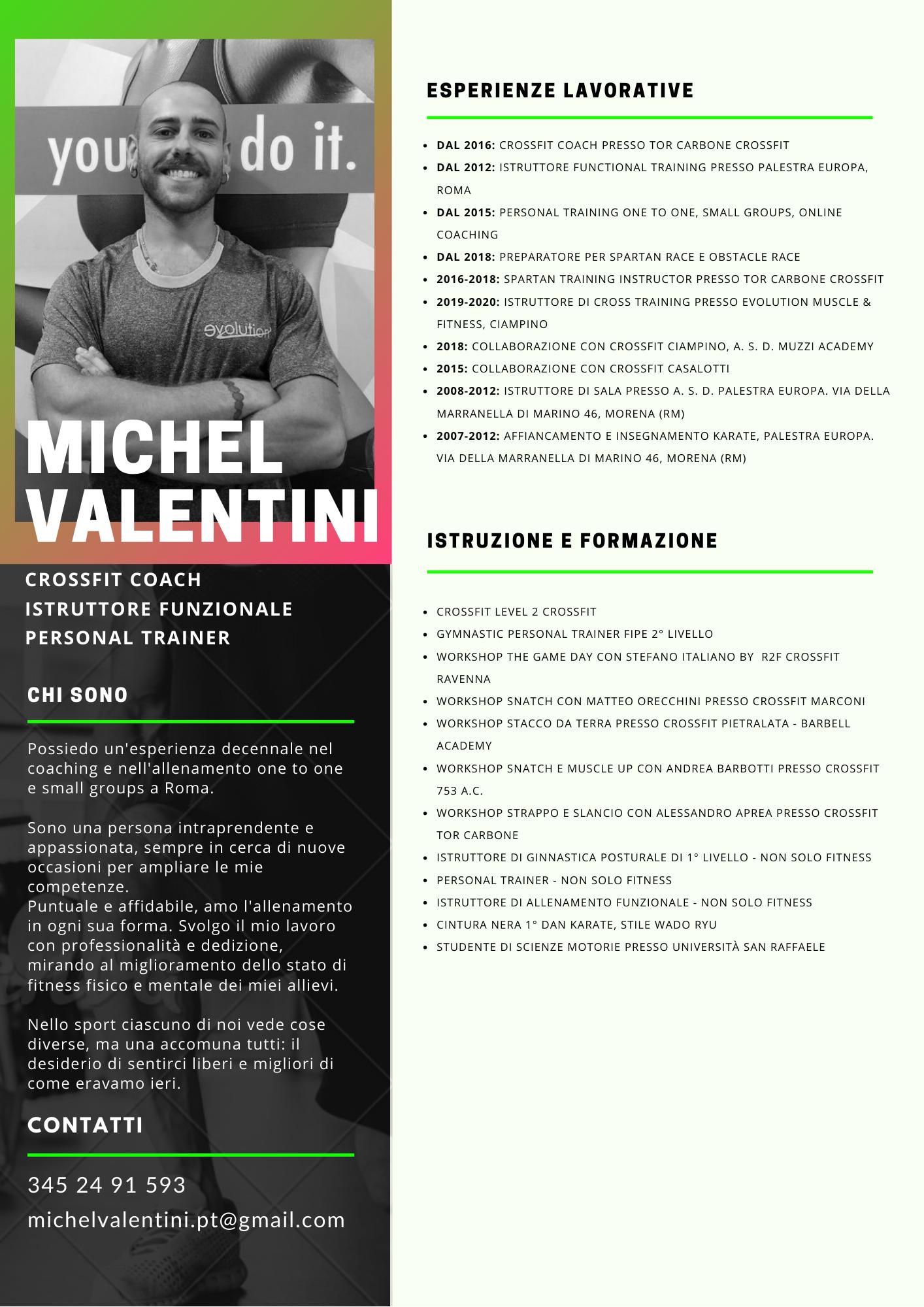 Personal Trainer Morena - Michel Valentini