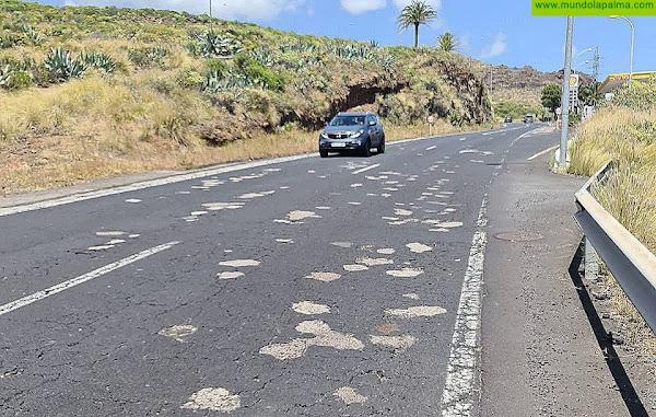 Breña Alta solicita al Cabildo el calendario de obras de asfaltado ante el retraso en el repavimentado de hasta tres vías claves del municipio