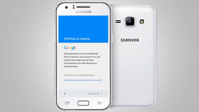 eliminar - remover cuenta Google Samsung Galaxy J1