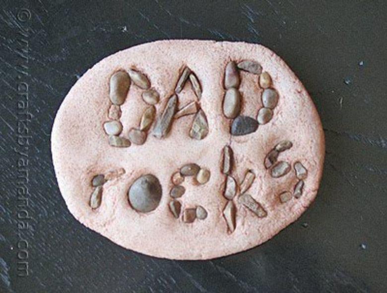Salt dough ideas - dad rocks craft
