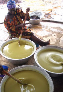 alaffia she butter being made