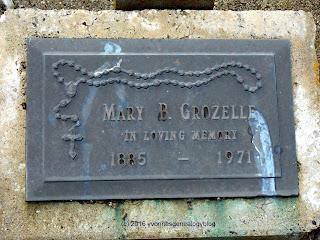 Mary OConnor Grozelle gravemarker