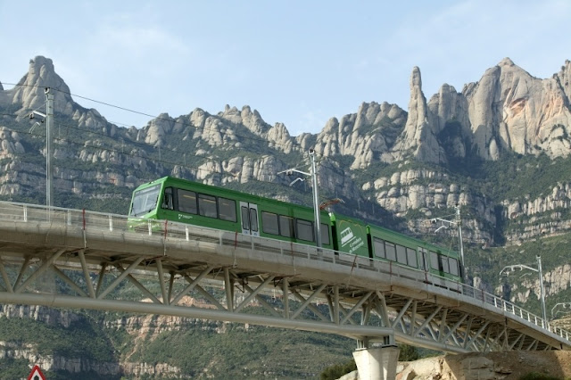 Trem Cremallera em Montserrat