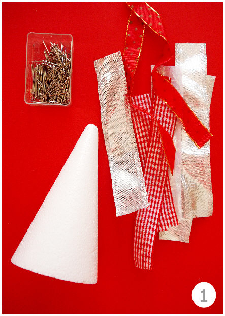 DIY Ribbon Christmas Trees Tutorial - BirdsParty.com
