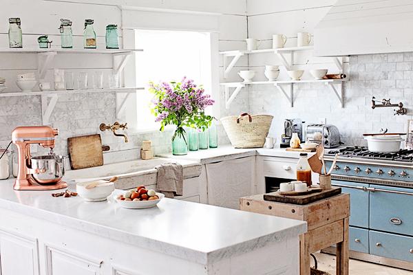 Breathtaking light filled French farmhouse kitchen of Maria of Dreamy Whites - found on Hello Lovely Studio