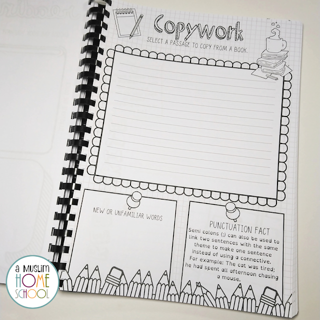 copywork printable for kids