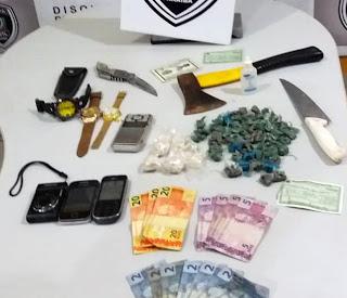 Suspeitos são presos com drogas em cueca de criança