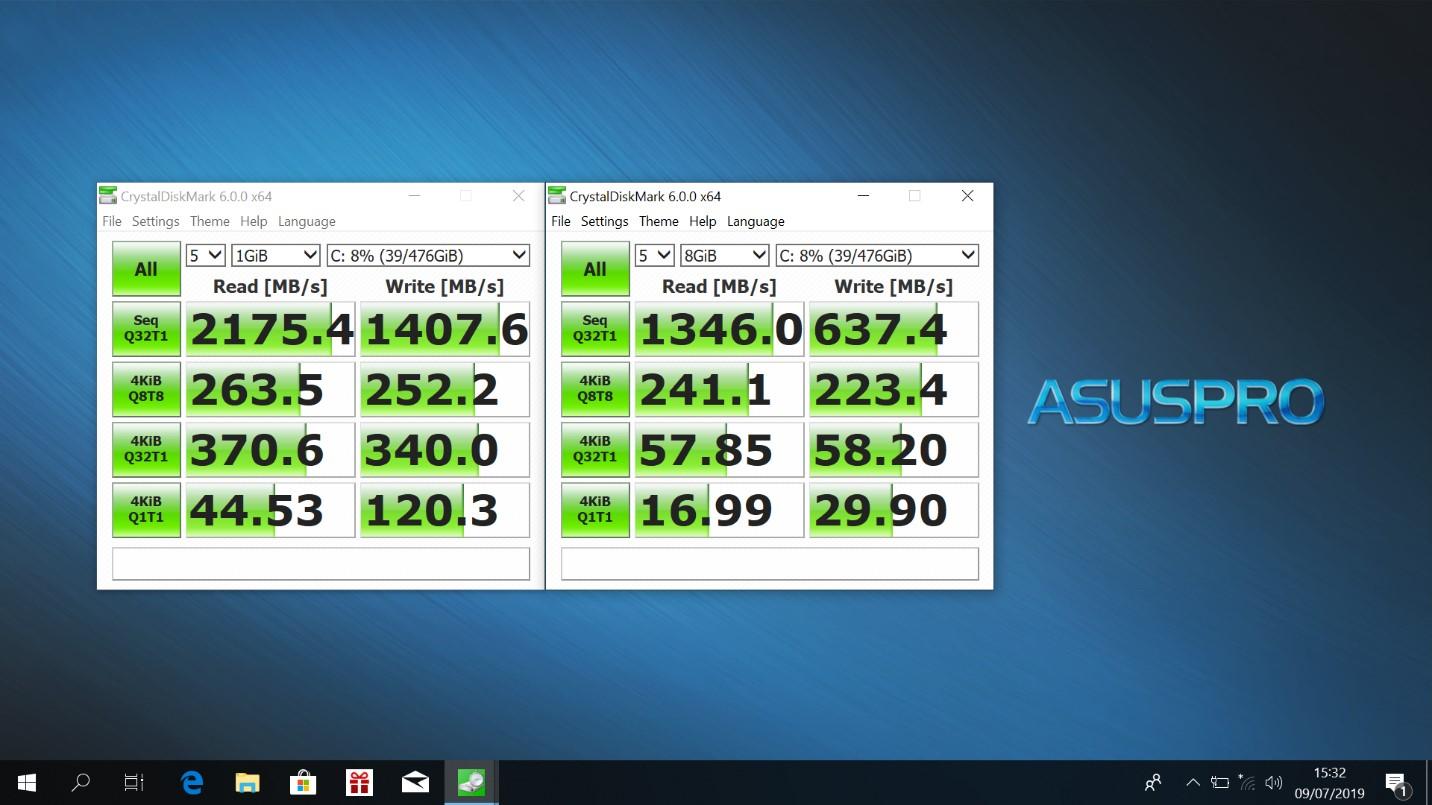 Benchmark CrystalDiskMark Asus Pro P5440FA