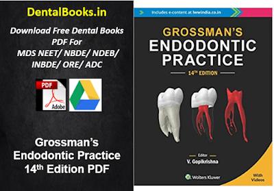 Grossman's Endodontic Practice 14th Edition PDF