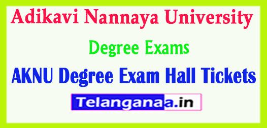 AKNU Adikavi Nannaya University Degree Exam Hall Tickets 2018